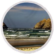Oregon Coast 14 Round Beach Towel
