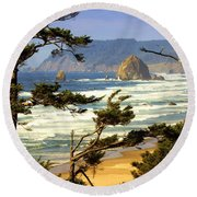 Oregon Coast 15 Round Beach Towel