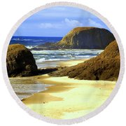 Oregon Coast 18 Round Beach Towel