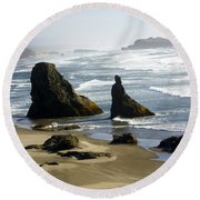 Oregon Coast 19 Round Beach Towel