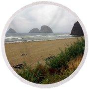 Oregon Coast 2 Round Beach Towel