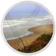 Oregon Coast 3 Round Beach Towel