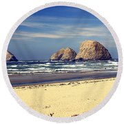 Oregon Coast 7 Round Beach Towel