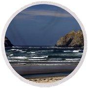 Oregon Coast 8 Round Beach Towel