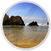 Oregon Coast 9 Round Beach Towel