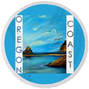 Oregon Coast Graphics Round Beach Towel