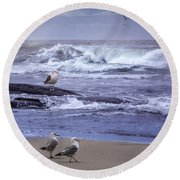 Oregon Coastal Morning Round Beach Towel