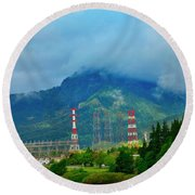Oregon Columbia River - River View Round Beach Towel