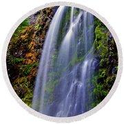 Oregon Falls Round Beach Towel