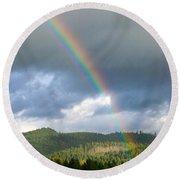 Oregon Rainbow Round Beach Towel