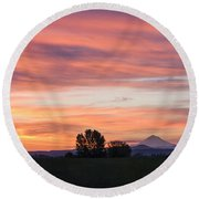 Oregon Sunrise Round Beach Towel