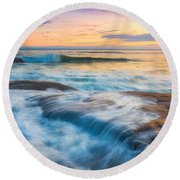 Oregon's Gold Coast Round Beach Towel