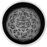 Oreo In Matte Finish Round Beach Towel