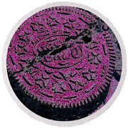 Oreo In Pink Round Beach Towel