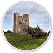 Orford Castle - England Round Beach Towel