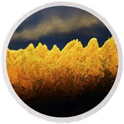 Organ Mountains Land Of Enchantment 1 Round Beach Towel