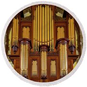 Organ Pipes Round Beach Towel