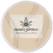 Organic Round Beach Towel