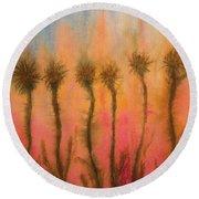 Organic Watercolor Art Round Beach Towel