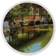 Orient - Bridge - The Chinese Garden Round Beach Towel