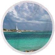 Orient Beach Catamaran Round Beach Towel