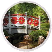 Orient - Bridge - Tranquility Round Beach Towel