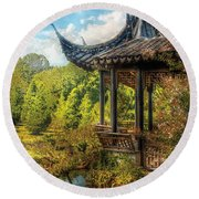 Orient - From A Chinese Fairytale Round Beach Towel