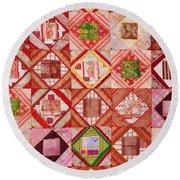 Oriental Patchwork Tapestry Round Beach Towel