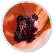 Oriental Poppy - Duvet Covers Round Beach Towel