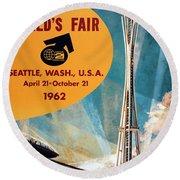 Original 1962 Seattle Worlds Fair Promotion Round Beach Towel