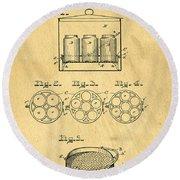 Original Patent For Canning Jars Round Beach Towel