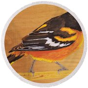 Oriole 3 Round Beach Towel
