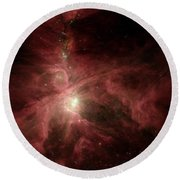 Orions Inner Beauty Round Beach Towel