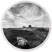 Orme Rocks Round Beach Towel