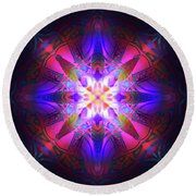 Ornament Of Light Round Beach Towel