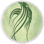 Ornamental Parrot Minimalism Round Beach Towel