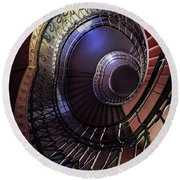 Ornamented Metal Spiral Staircase Round Beach Towel