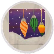 Ornaments Round Beach Towel