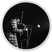 Ornette Coleman On Violin Round Beach Towel