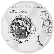 Orrery By Stephen Hales, 1705 Round Beach Towel