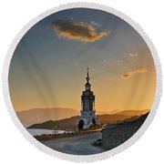 Orthodox Church Round Beach Towel