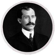 Orville Wright Portrait - 1905 Round Beach Towel