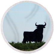Osborne Bull 3 Round Beach Towel