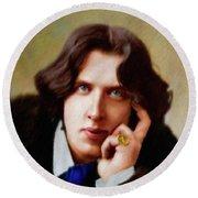 Oscar Wilde, Literary Legend Round Beach Towel