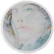 Oscar Wilde - Watercolor Portrait.7 Round Beach Towel