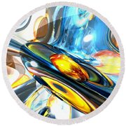 Oscillating Color Abstract Round Beach Towel