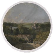 Osmington Village Round Beach Towel