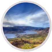 Osoyoos Lake Round Beach Towel