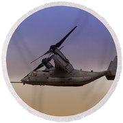 Osprey In Flight IIi Round Beach Towel