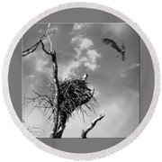 Osprey Nest Round Beach Towel